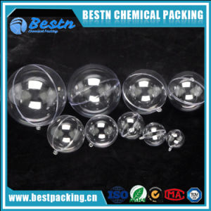 White Transparent Christmas Ball Can Open Plastic Hollow Ornament Ball pictures & photos