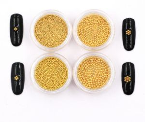 2016 New Arrival 5g Silver Gold Nail Metallic Caviar Beads in Jar for 3D Nail Art Tips Decoration Manicure Tools (0.8mm gold) pictures & photos