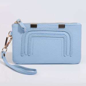 RFID Blocking Functional Soft Leather Lady Wrist Wallet with Zipper Enclosure (3915) pictures & photos