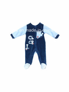 Polyester Velvet Romper for Baby pictures & photos