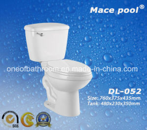 Popular Ceramic Two Piece Toilets for Bathroom (DL-052) pictures & photos