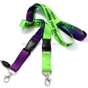 Cheap Custom Printing Polyester Nylon Lanyard with Buckle pictures & photos