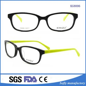 Guanzhou Stock Fashion Matte Black Eyeglasses Optical Frames for Young Girl pictures & photos