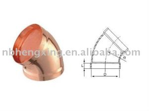 45 Degree Copper Elbow for Air Conditioner Fittings pictures & photos