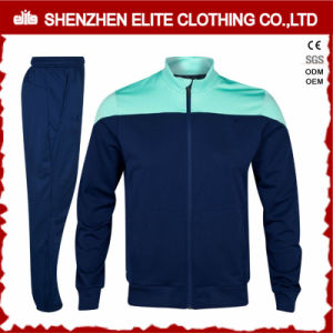 High Quality Customised Wonder Green and Navy Tracksuit (ELTTI-17) pictures & photos