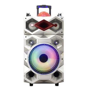 2017 New Style Popular LED Light Big Power Portable Bluetooth Speaker with Trolley 12 Inch F12-23 pictures & photos