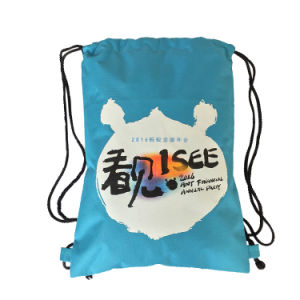 Polyester Drawstring Shopping Bag Backpack (YYDB048) pictures & photos