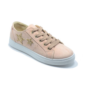 Double Stars Injection Leisure Popular Rubber Student Women Footwear pictures & photos