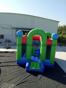 0.55mm PVC Tarpaulin Green Color Inflatable Bouncy Combo pictures & photos