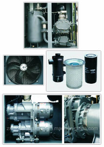 75kw/100HP Double Stage Air Cooling Twin-Screw Rotary Compressor pictures & photos
