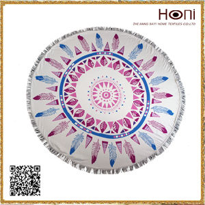 Round Mandala Towel, Microfiber Beach Towel, Circle Beach Towel pictures & photos