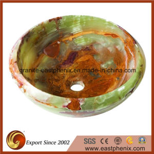 Round Green Brown Onyx Stone Vessel Sink pictures & photos