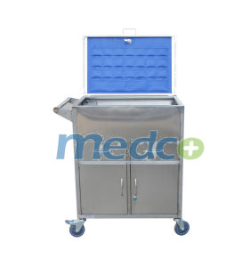Stainless Steel Hospital Nursing Cart Emergency Trolley for First Aid pictures & photos