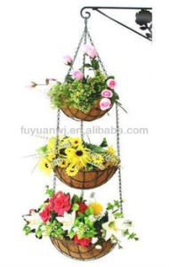 2017garden Wrought Iron Hanging Flower Baskets/Hanging Bask (factory) pictures & photos