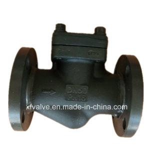 DIN Standard Forged Steel Flange Connection End Piston Check Valve