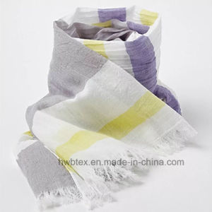 2017 Fashion Top Quality Cotton Horizontal Stripe Scarf / Shawl (HWBC09) pictures & photos
