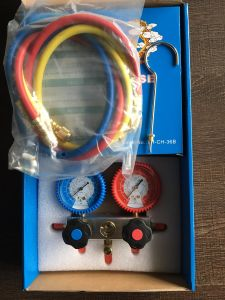 Aluminum Body High Pressure R134A R404A R407c R22 Manifold Gauge pictures & photos