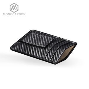 Luxury Rfiid Carbon Fiber Slim Carbon Fiber Pattern PU Leather Clip Holders Men pictures & photos