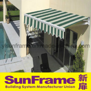 Green Retractable Aluminium Remote Control Awning pictures & photos
