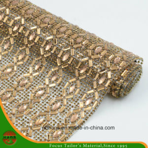 New Design Heat Transfer Adhesive Crystal Resin Rhinestone Mesh (YH-007) pictures & photos
