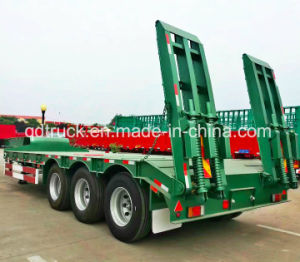 China Made 3 Axles 60tons Heavy Duty Lowbed Semi Trailer pictures & photos