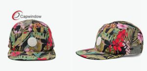 Floral Military Hat with Leather Patch on Camper Cap pictures & photos
