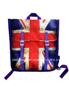 Fashion Flag Canvas Laptop Backpack pictures & photos