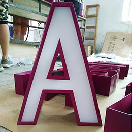 Chain Shop Supermarket Advertising Acrylic Stainless Steel LED Channel Letters pictures & photos