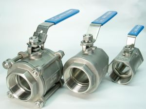 3 PC Ball Valve Flange Thread Weld Clamp pictures & photos