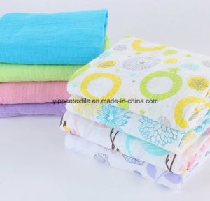 70%Bamboo 30%Cotton Muslin Crib Fitted Sheet pictures & photos