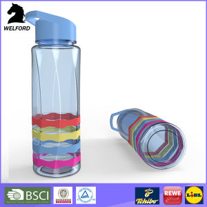Plastic Sports Water Bottle with Straw