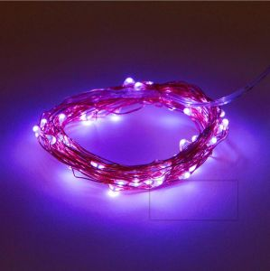 Pink LED Flexible Starry Fairy Copper Lights with Power Adapter for Party Home Bedroom Wedding pictures & photos