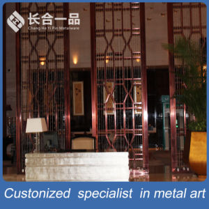 Customized Modern Stainless Steel Room Divider Screen Dubai Style pictures & photos