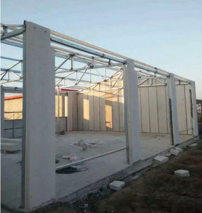 Modular Steel Frame Structure Family House government Communities Improve House pictures & photos