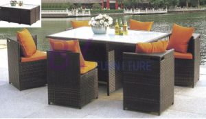 Outdoor Garden PE Rattan Furniture with 6 Corner Chairs pictures & photos