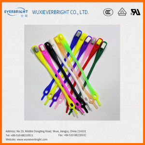 Popular Colorful Amazon Never Tie Polyester Silicone Shoelaces pictures & photos