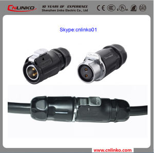 High Quality Cnlinko Power Application Female Gender Electrical 2pin Connector for LED Screen pictures & photos