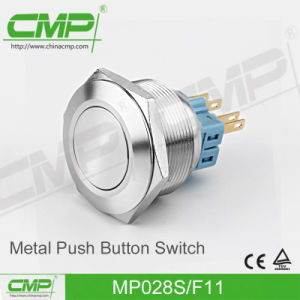 28mm Waterproof Push Button Switch (Momentary or Latching) pictures & photos