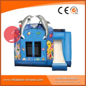 Double Dolphin Seaworld Inflatable Jumping House Combo with Slide (T3-101) pictures & photos