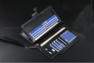 Zipper Leisure PU Hand Hold Male Business Phone Purse Wallet pictures & photos