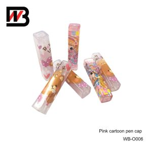 Cartoon Plastic Pen Cap for Office Stationery