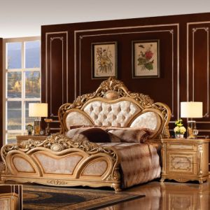 Bedroom Furniture Set with King Bed and Cabinet (W809) pictures & photos