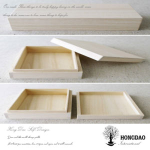 Hongdao Unfinished Custom Natural Color Wooden Pie Box Wholesale_L pictures & photos