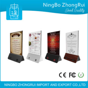 New Arrival Anti-Theft Systems Restaurant Menu Stand Advertisement Power Bank pictures & photos