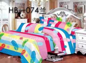 Microfiber Fabric Bedroom Adult Being Flocking Floral Comforter Bedding Sets pictures & photos