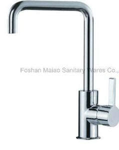 Sanitary Ware Square Shape Chrome Plated Sink Kitchen Faucet (026-01) pictures & photos