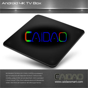 New Arrival Caidao TV Android WiFi Smart TV Box for TV 2017 Octa Core Android 7.1 1GB/8GB 2GB/8GB and 2GB/16GB Kodi 4k Internet Box pictures & photos