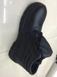 China Supplie Leather Slip-Resistant Safety Shoes pictures & photos