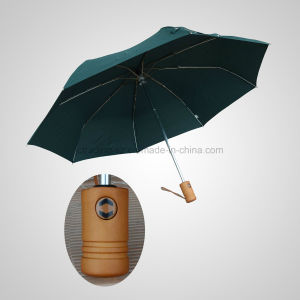 3 Fold High Quality Automatic Open&Close Wooden Handle Fashion Umbrella (JF-AOC304) pictures & photos