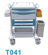ABS Medical Hospital Treatment Cart/ Trolley with Five Drawers Both Side pictures & photos
